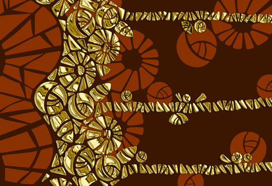 Geometric Design | Brown and gold geometric design by wallunica | Wall coverings / wallpapers