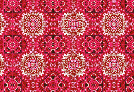 Geometric Design | Pink and red geometric pattern by wallunica | Wall coverings / wallpapers