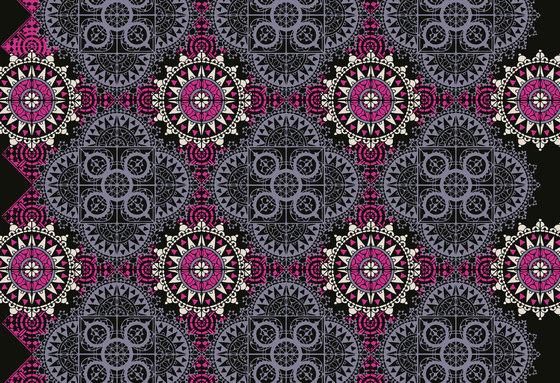 Geometric Design | Fuschia, purple and black geometric design by wallunica | Wall coverings