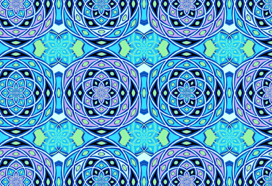 Geometric Design | Blue geometric pattern by wallunica | Wall coverings / wallpapers