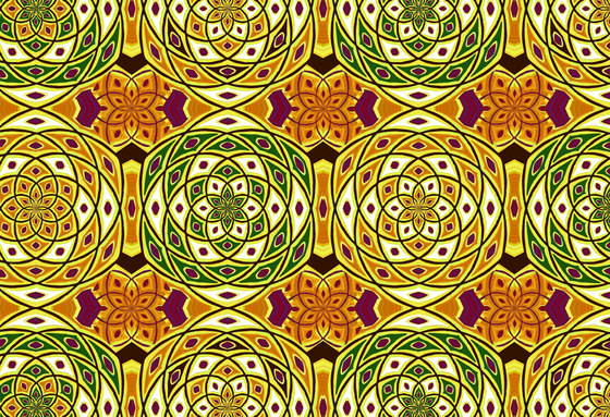 Geometric Design | Yellow and green geometric pattern by wallunica | Wall coverings