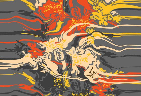 Abstract Pattern | Abstract spilled paint design di wallunica | Carta da parati / carta da parati