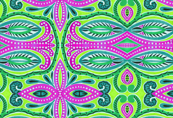 Abstract Pattern | Green and magenta abstract design by wallunica | Wall coverings / wallpapers