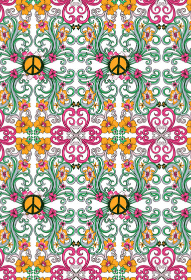 Felt Art | Intricate design with peace symbols by wallunica | Wall coverings / wallpapers
