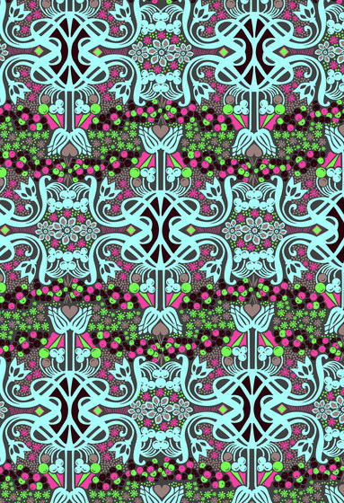Felt Art | Colorful intricate design by wallunica | Wall coverings / wallpapers