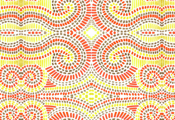 Mosaic Design | Orange and yellow mosaic pattern by wallunica | Wall coverings / wallpapers