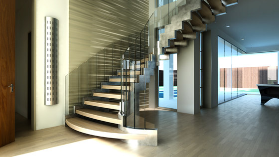 Cobra silver by Siller Treppen | Glass stairs