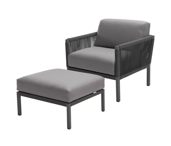 Club Lounge Chair and Footstool by solpuri | Garden armchairs