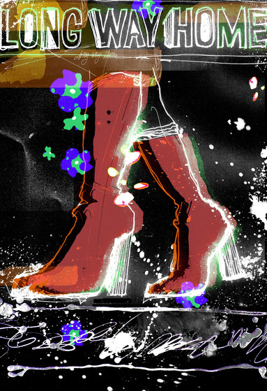 Ilustrations - Wall Art | Red boots illustration by wallunica | Wall art / Murals