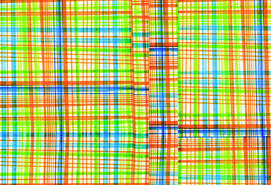 Textile Structures | Colorful plaid pattern di wallunica | Carta da parati