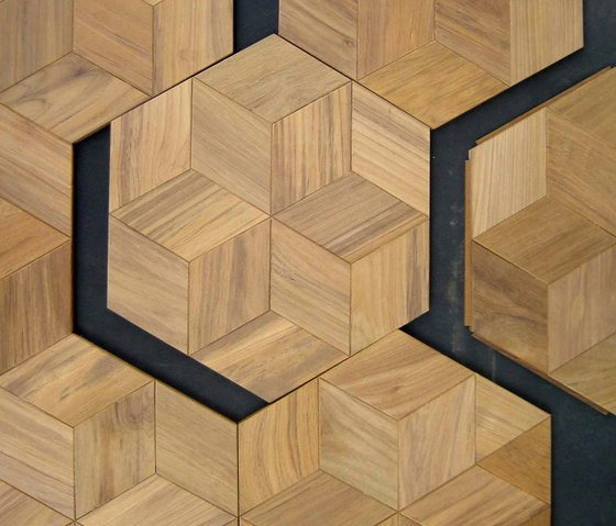 Octagonal floor by Deesawat | Wood mosaics