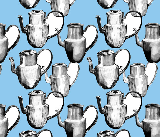 Scandinavian design | Teapots design by wallunica | Wall coverings / wallpapers