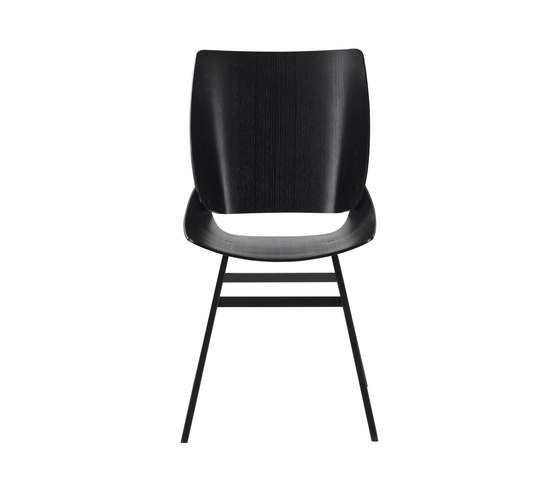 Shell Chair Black by Rex Kralj | Visitors chairs / Side chairs
