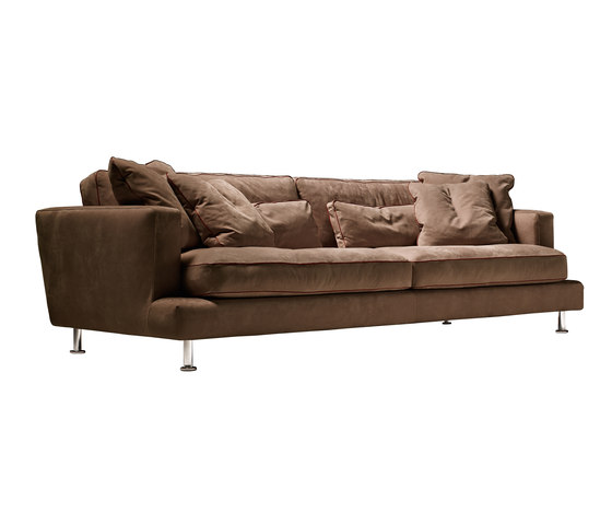 Eleven sofa leather by Loop & Co | Lounge sofas