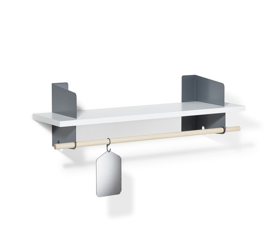 Atelier coat-rack | shelving | 1000 mm di Lampert | Guardaroba a muro