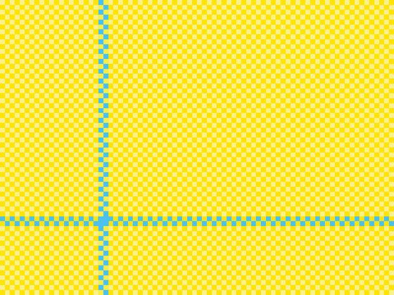 2Tone FX Checker yellow & blue by kymo | Rugs / Designer rugs