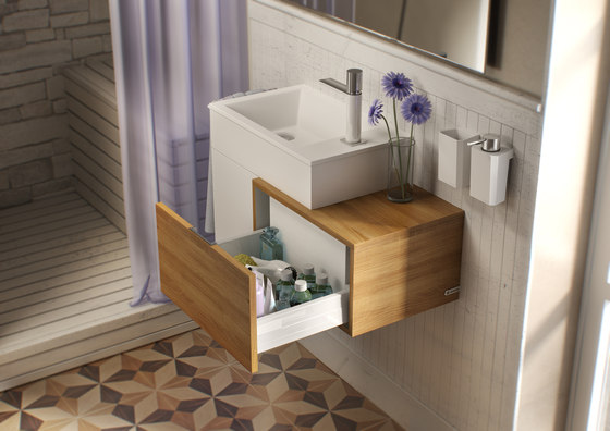 Puzzle 45 drawer side unit de SONIA | Meubles sous-lavabo