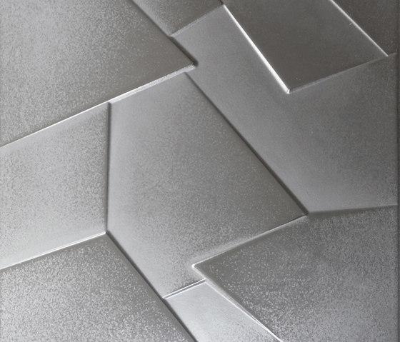 Anarchy silver lappato prism by Apavisa | Ceramic panels