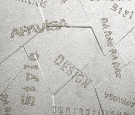 Anarchy white natural prism letters by Apavisa | Ceramic panels