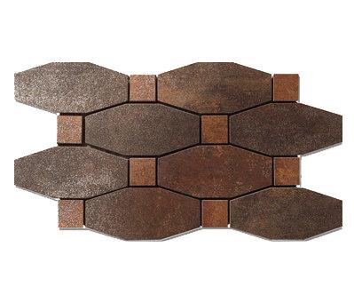 Metal titanium lappato mosico blend by Apavisa | Metal mosaics