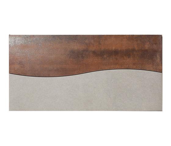 Metal copper lappato mosaico onda by Apavisa | Metal tiles