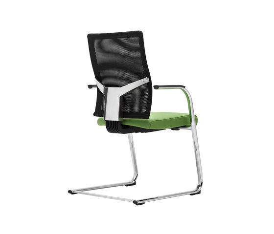 @Just2 mesh Cantilever chair by Dauphin | Visitors chairs / Side chairs