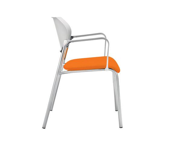 Previo Four-legged chair by Dauphin | Multipurpose chairs