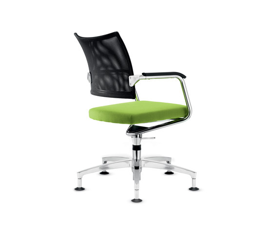 Teo 2 Conference swivel chair by Dauphin | Visitors chairs / Side chairs