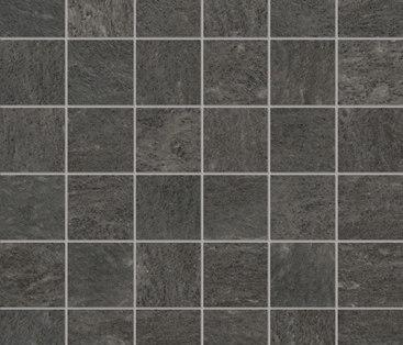 Burlington black natural mosaico by Apavisa | Concrete mosaics