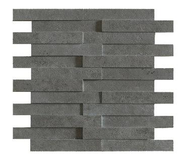 Evolution antracita striato mosaico brick by Apavisa | Ceramic tiles