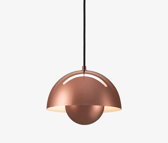 FlowerPot Pendant VP1 polished copper by &TRADITION | General lighting