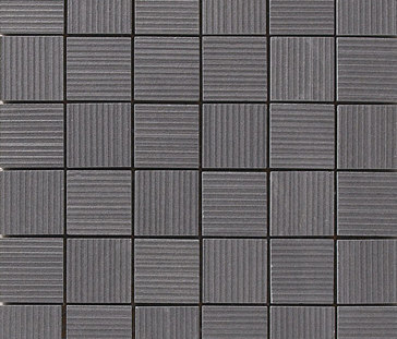 Lava negro rigato mosaico by Apavisa | Ceramic mosaics
