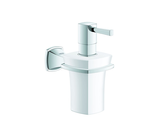 Grandera Holder with ceramic soap dispenser by GROHE   Soap dispensers