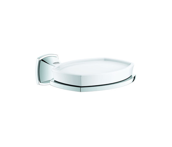 Grandera Holder with ceramic soap dish by GROHE | Soap holders / dishes