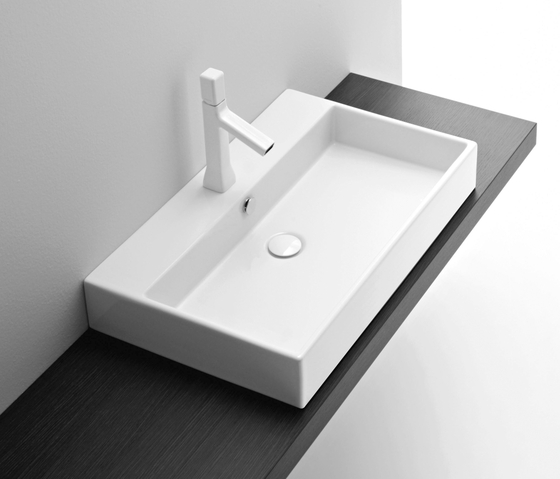 Galaxy LW 60 Washbasin sit-on by Milldue | Wash basins