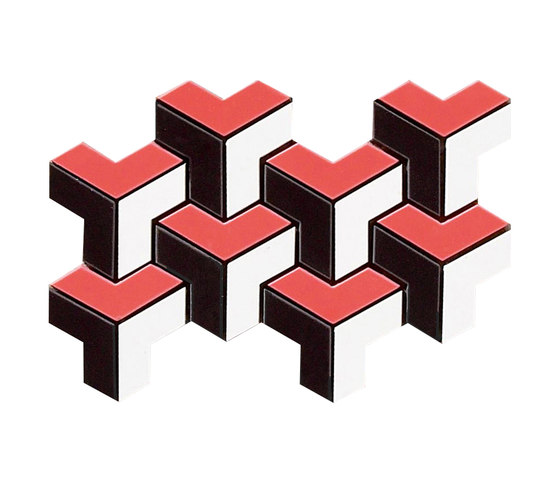 Spectrum red pulido mosaico tetris von Apavisa | Keramik Mosaike