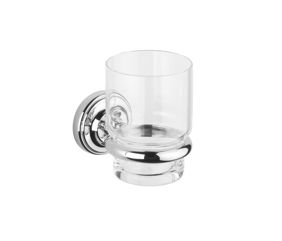 Vienna Tumbler holder with clear glass tumbler by Aquadomo   Toothbrush holders