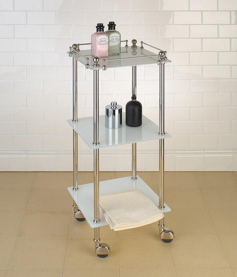 Tavolino | white glass by Aquadomo | Bath shelving