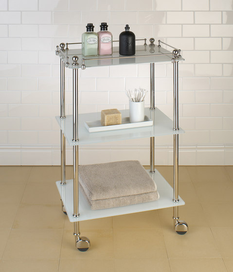 Tavolino | white glass by Aquadomo | Bath shelving
