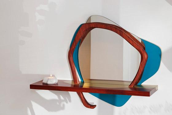 Ikebana II Wall mirror de Karen Chekerdjian | Miroirs