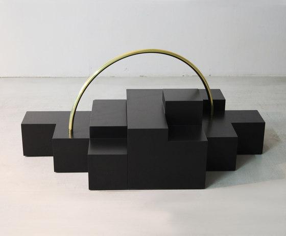 Platform Rainbow Coffee table by Karen Chekerdjian | Lounge tables