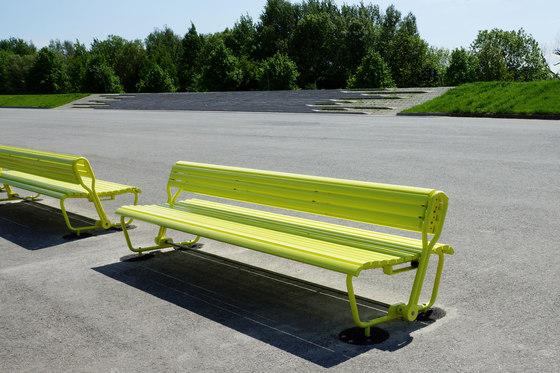 Landi mit schwenkbarer Rückenlehne by BURRI | Exterior benches