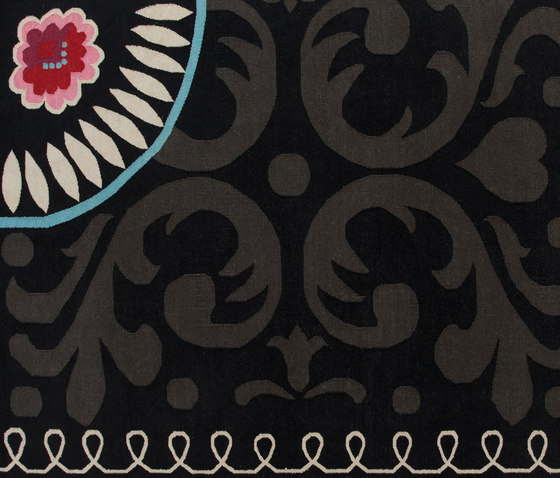 Goyescas Rug Black 2 by GAN | Rugs / Designer rugs
