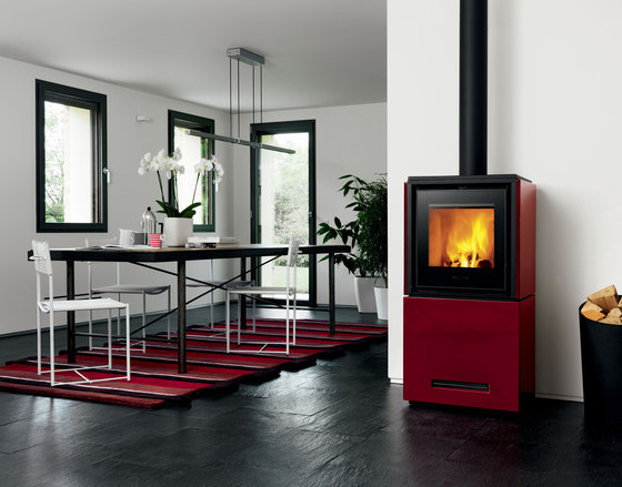 Qube 2 by Piazzetta | Wood burning stoves