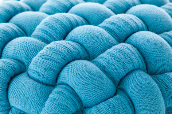 Knitted Stool Blue 2 by GAN | Ottomans