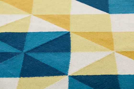 Mosaïek Kilim Rug Yellow 2 by GAN | Rugs / Designer rugs