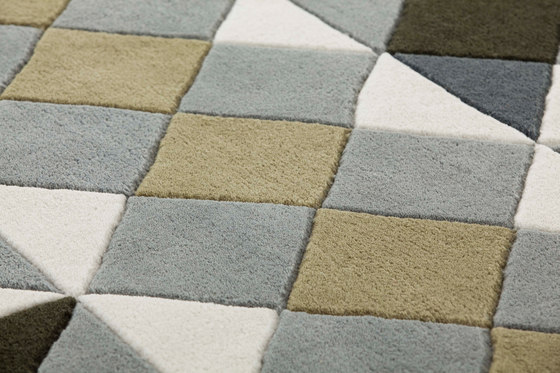 Mosaïek Hand Tufted Rugs Grey 2 by GAN | Rugs / Designer rugs