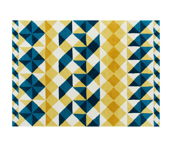 Mosaïek Hand Tufted Rugs Yellow 1 by GAN | Rugs / Designer rugs