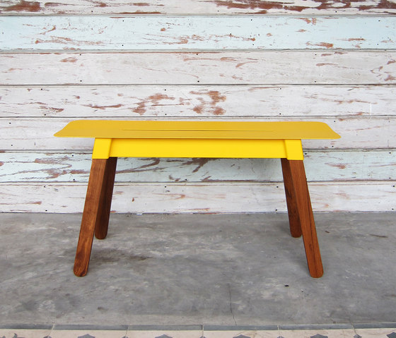 SIM STEEL Bench 90 by TAKEHOMEDESIGN | Garden benches