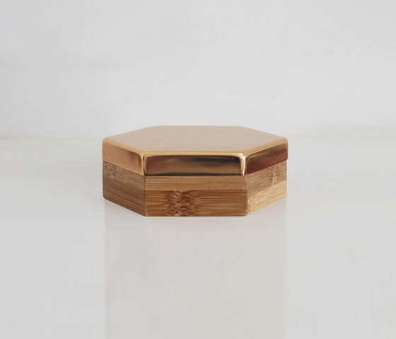 Hex Box Small Mirror de Evie Group | Contenedores / cajas